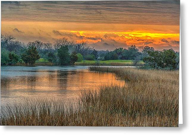 Noisette Sunrise Greeting Card by Donnie Smith
