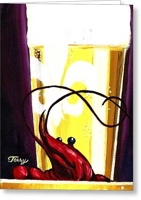 Nola Beer Greeting Card by Terry J Marks Sr