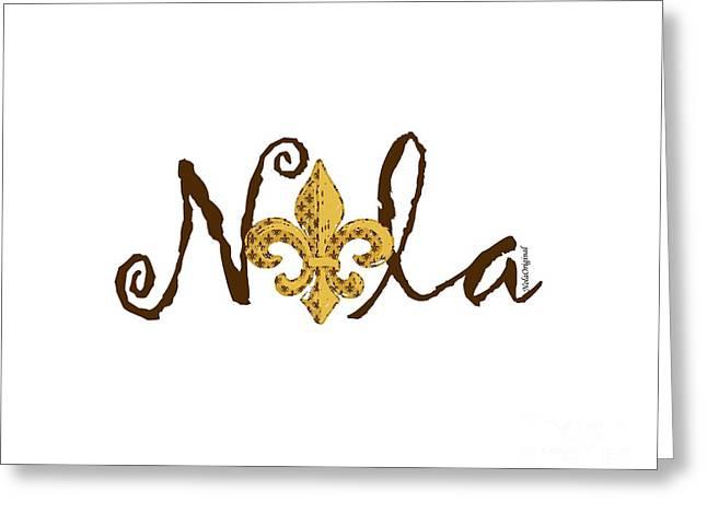 Nola In Brown Greeting Card by NolaOriginals