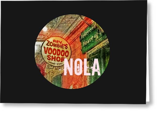New Orleans Voodoo T Shirt Greeting Card by Valerie Reeves