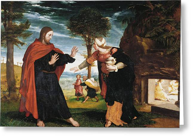 Noli Me Tangere Greeting Card by Hans Holbein the Younger