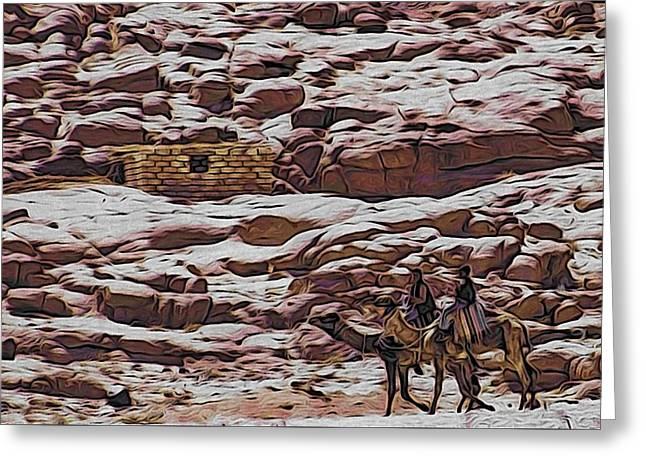Nomads Of The Sinai Desert Greeting Card by Alexandre Ivanov