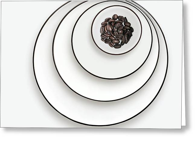 Greeting Card featuring the photograph Nonconcentric Dishware And Coffee by Joe Bonita