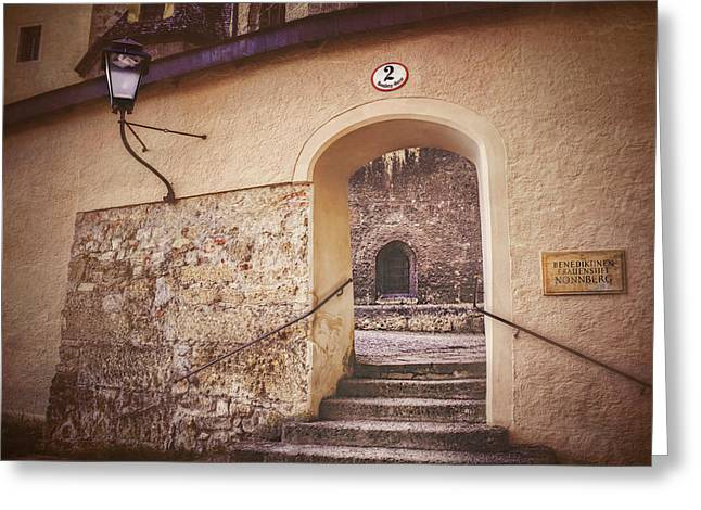 Greeting Card featuring the photograph Nonnberg Abbey In Salzburg Austria  by Carol Japp