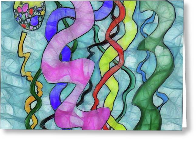 Noodles #3 Greeting Card by John Pullicino