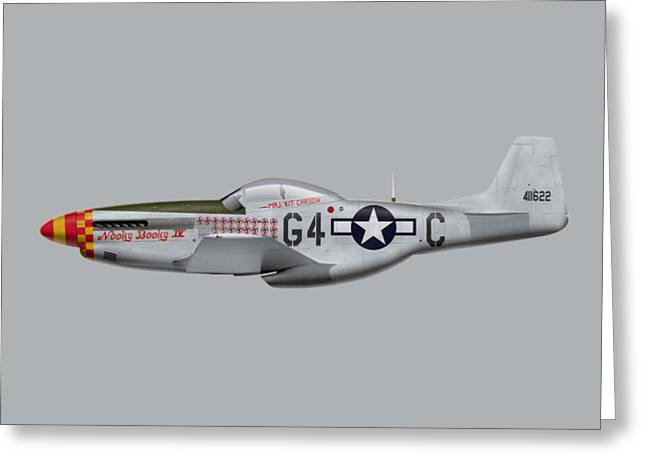 Nooky Booky I V - P-51 D Mustang Greeting Card by Ed Jackson