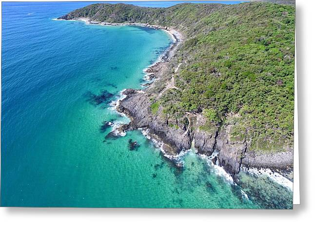 Greeting Card featuring the photograph Noosa National Park Aerial View by Keiran Lusk
