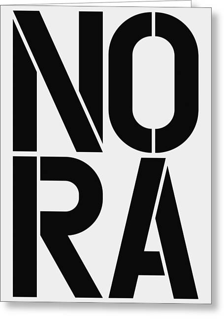 Nora Greeting Card by Three Dots