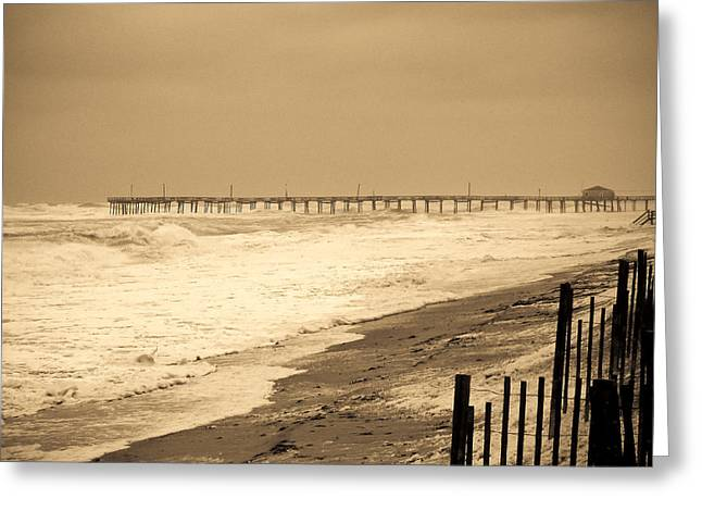 Nor'easter At Nags Head Greeting Card by Ches Black