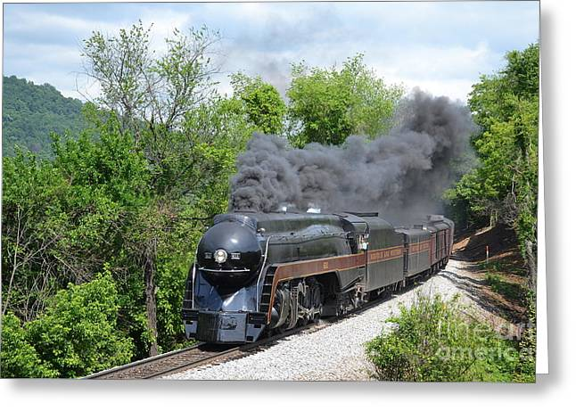 Norfolk And Western Class J #611 Greeting Card by Steve Gass