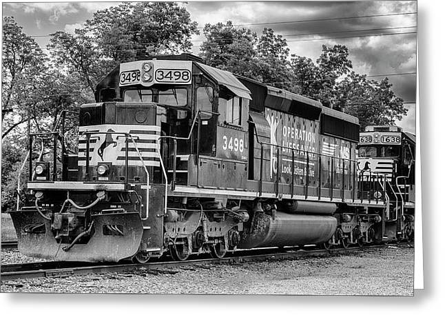 Norfolk Southern #3498 - Operation Lifesaver Greeting Card