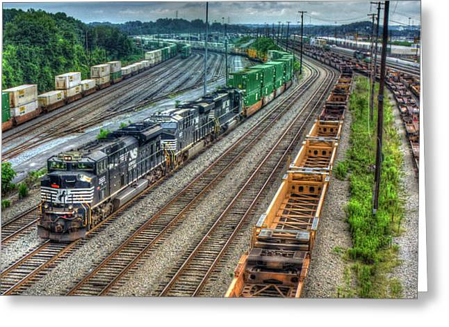 Norfolk Southern Locomotive #2665 Atlanta Inman Intermodal Yard Art Greeting Card