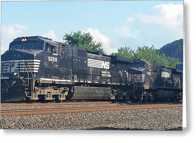 Norfolk Southern Ge C44-9w At Duncannon, Pa Greeting Card