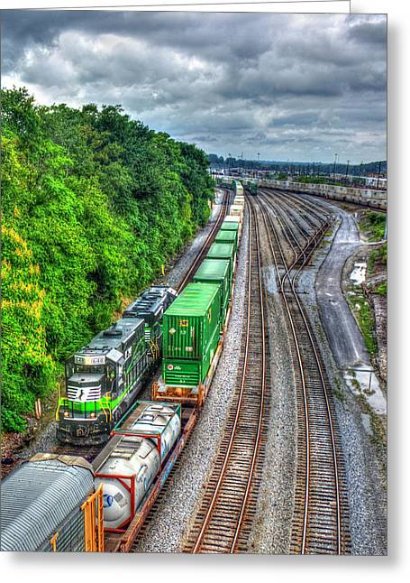 Norfolk Southern Locomotive 648 Atlanta Train Art Greeting Card