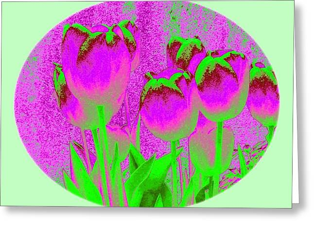Noric House Tulips Greeting Card by Will Borden