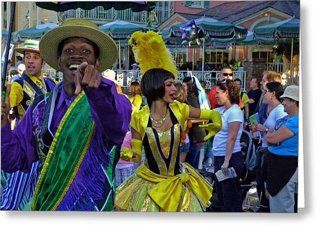 N'orleans Groove Greeting Card by S Lynn Lehman