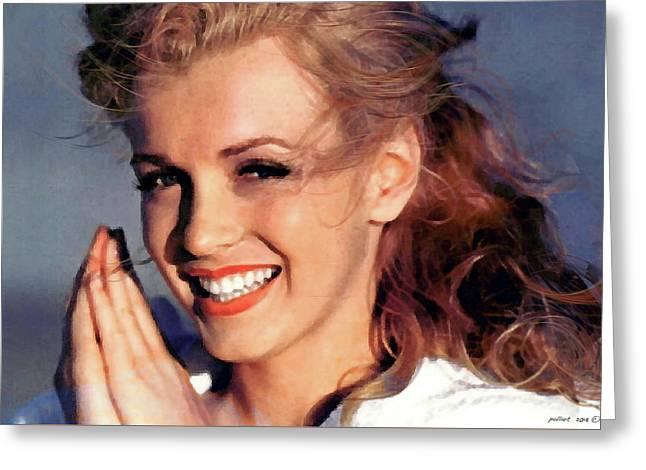 Norma Jeane Mortenson, Marilyn Monroe Greeting Card
