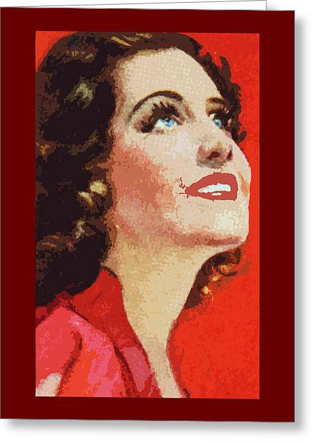 Norma Shearer Greeting Card by James Hill