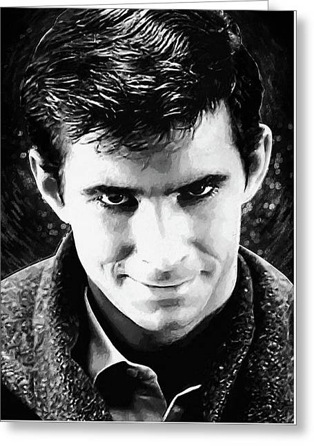 Norman Bates Greeting Card