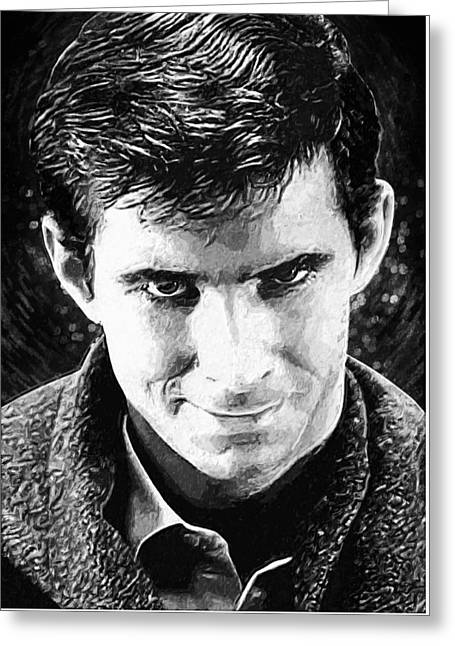 Norman Bates Greeting Card by Taylan Apukovska