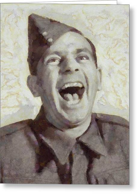 Norman Wisdom, British Comedy Actor Greeting Card by Sarah Kirk