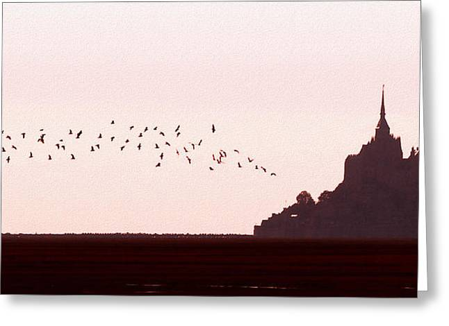 Normandy Dusk Greeting Card by Joe Bonita