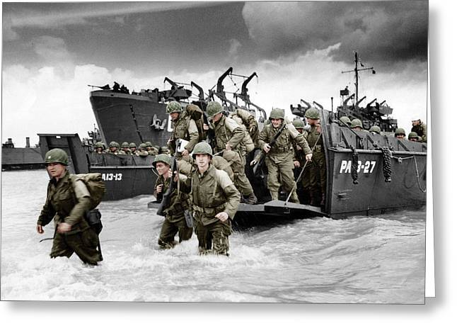 Normandy Landings Greeting Card by American School