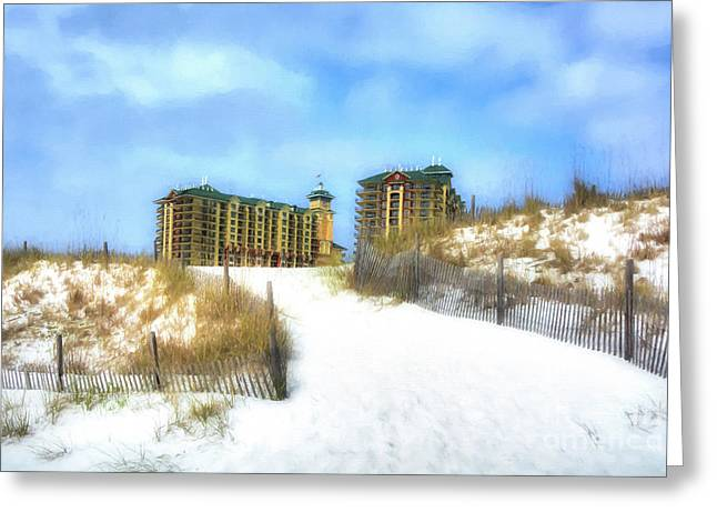 Greeting Card featuring the photograph Norriego Point Sand Dunes by Mel Steinhauer