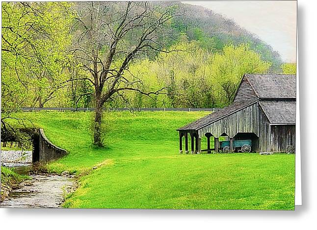 Norris Tennessee Countryside 2 Greeting Card by Toni Abdnour