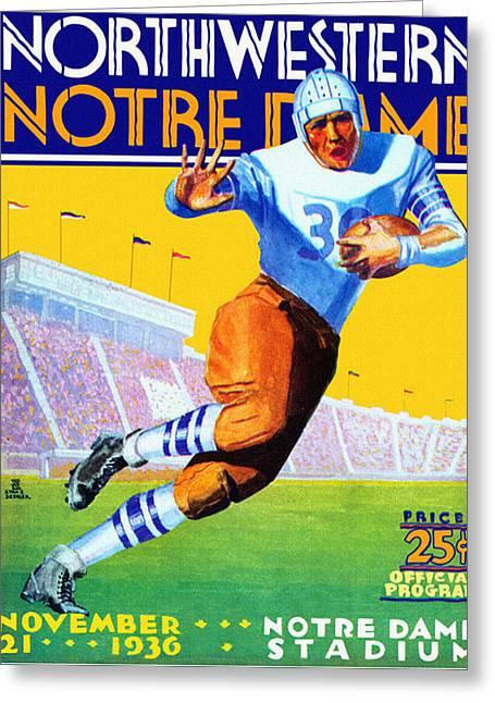 Notre Dame Versus Northwestern 1930 Program Greeting Card