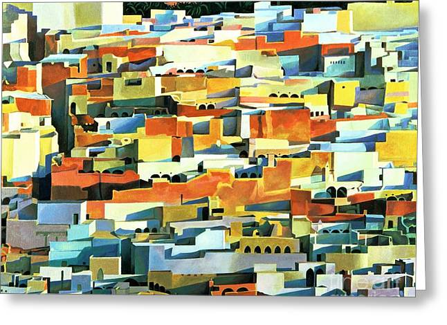 North African Townscape Greeting Card by Robert Tyndall