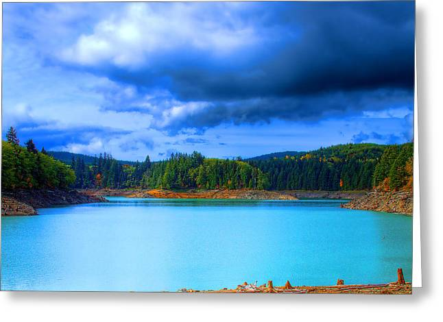 North Alder Lake Greeting Card by David Patterson
