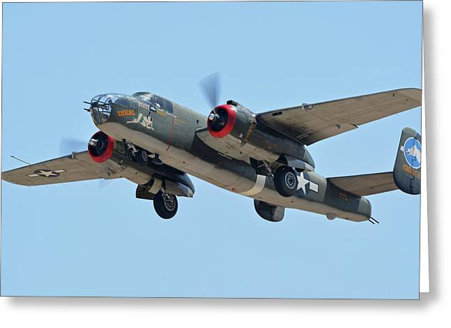 North American B-25j Mitchell Nl3476g Tondelayo Phoenix-mesa Gateway Airport Arizona April 15, 2016 Greeting Card by Brian Lockett