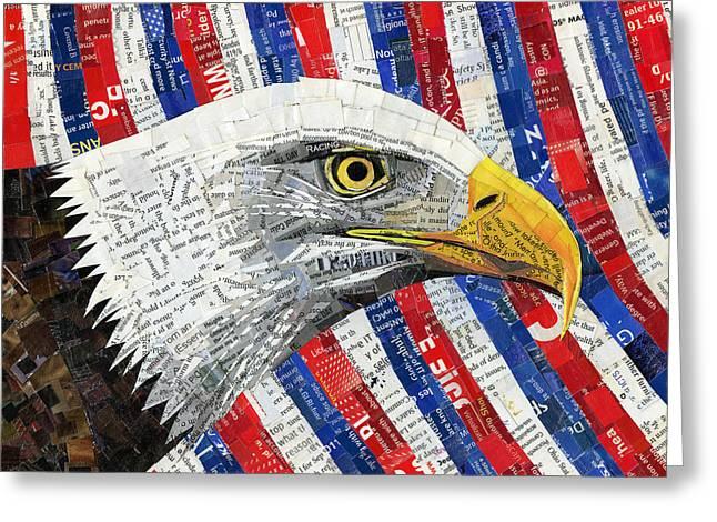 North American Bald Eagle Greeting Card by Shawna Rowe
