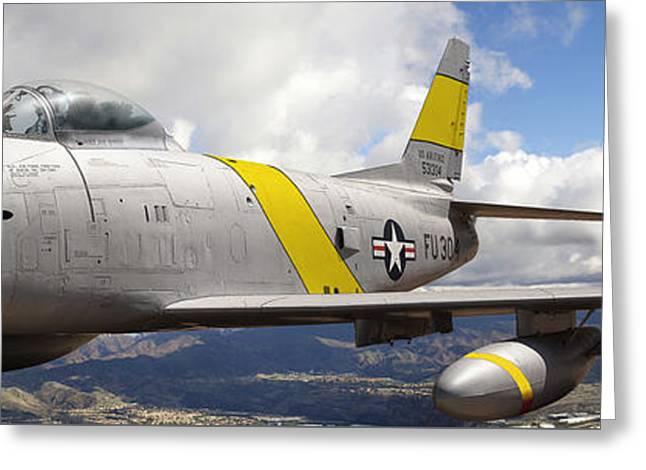 North American F-86 Sabre Greeting Card by Larry McManus