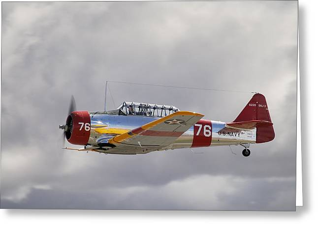 North American Harvard  Vh-nzh Greeting Card by Barry Culling