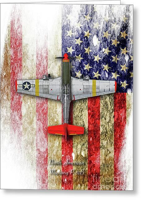 North American Mustang P-51b Greeting Card