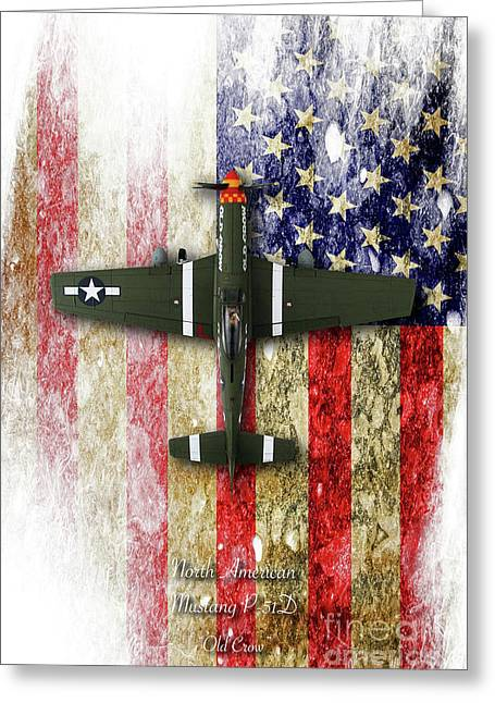 North American P-51 Mustang 'old Crow' Greeting Card