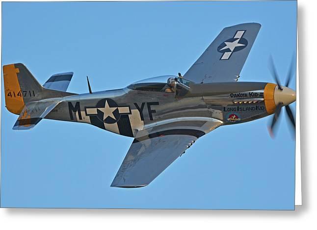 North American P-51d Mustang Nl151hr Chino California April 29 2016 Greeting Card by Brian Lockett