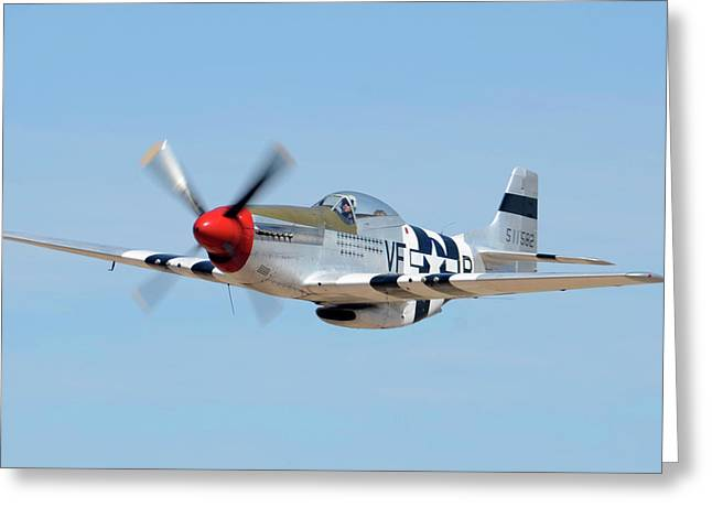 North American P-51d Mustang Nl5441v Spam Can Valle Arizona June 25 2011 1 Greeting Card by Brian Lockett
