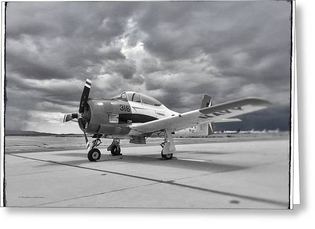 North American T-28 Greeting Card