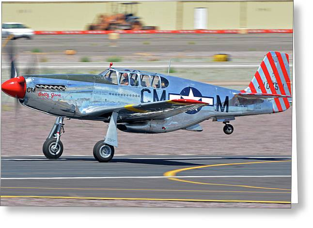 Greeting Card featuring the photograph North American Tp-51c-10 Mustang Nl251mx Betty Jane Deer Valley Arizona April 13 2016 by Brian Lockett