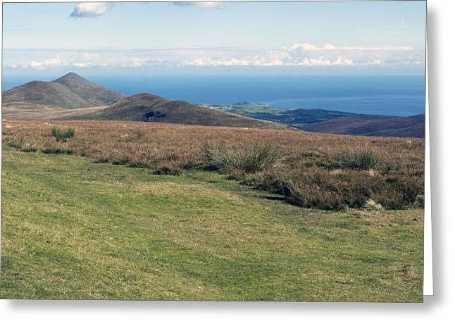 North Barrule And Maughold Head Greeting Card by Steve Watson
