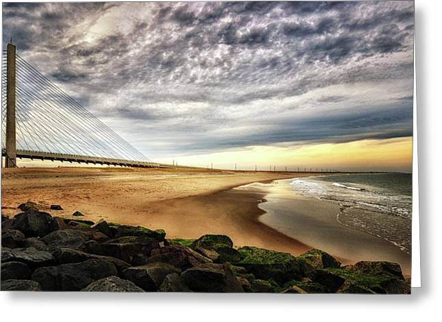 North Beach At Indian River Inlet Greeting Card