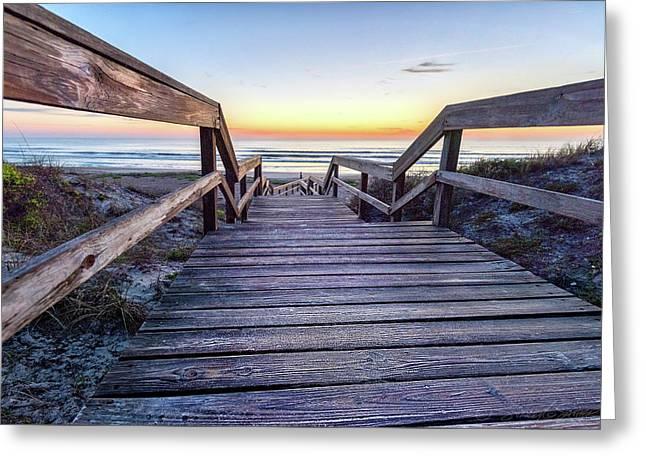 North Beach Sunrise Greeting Card