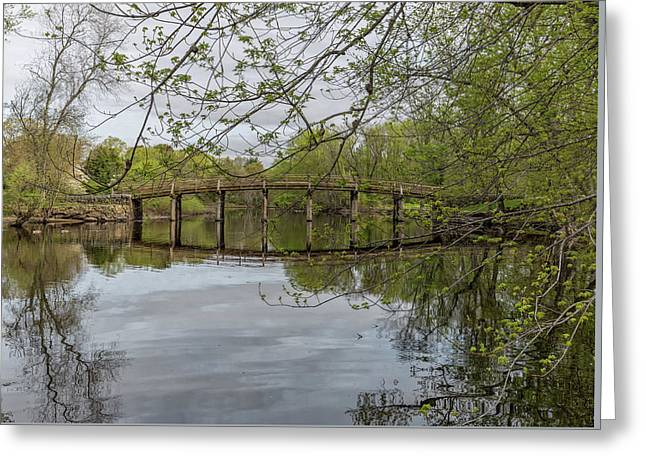 North Bridge Concord Massachusetts Greeting Card