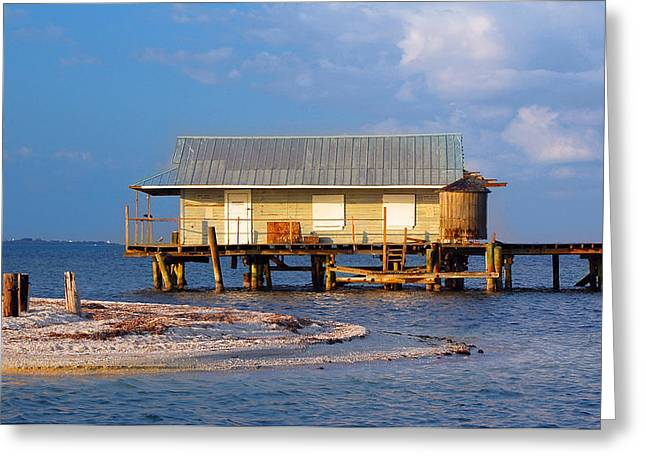 North Captiva Island Last Stilt House Standing Greeting Card