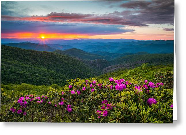 North Carolina Blue Ridge Parkway Landscape Craggy Gardens Nc Greeting Card