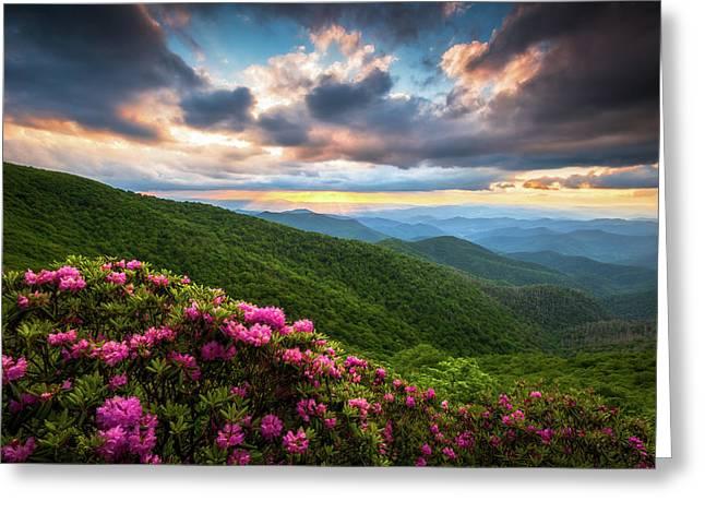 North Carolina Blue Ridge Parkway Scenic Landscape Asheville Nc Greeting Card