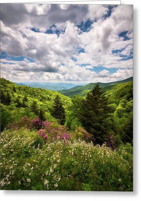 North Carolina Blue Ridge Parkway Scenic Landscape Nc Appalachian Mountains Greeting Card